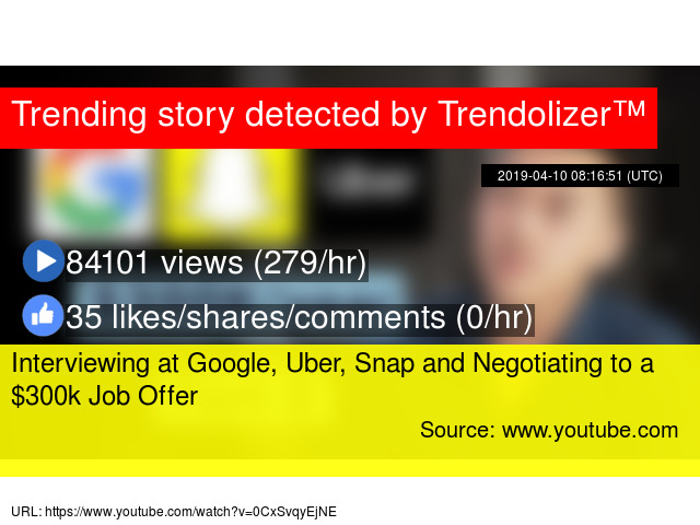Interviewing at Google, Uber, Snap and Negotiating to a $300