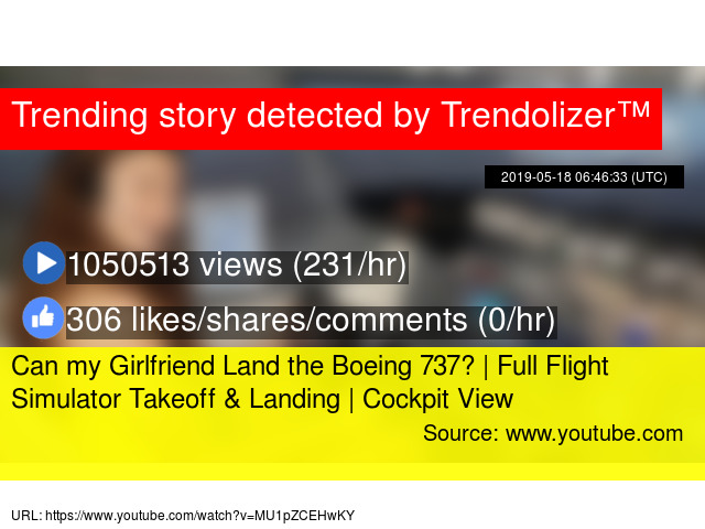 Can my Girlfriend Land the Boeing 737? | Full Flight