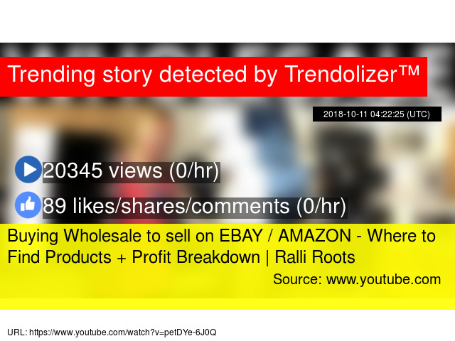 Buying Wholesale to sell on EBAY / AMAZON - Where to Find
